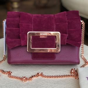 TED BAKER frill buckle clutch/ crossbody